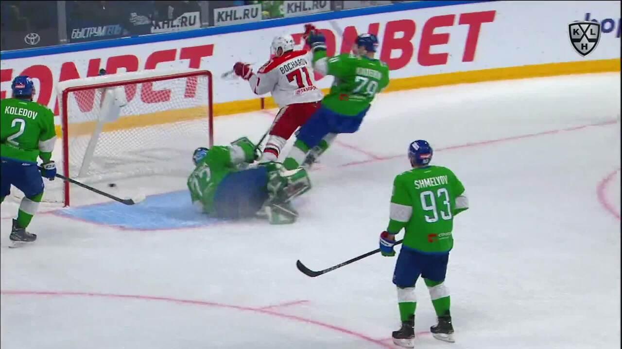 Хайлайты. Салават Юлаев - Автомобилист   29.09.2021   Обзор матча КХЛ